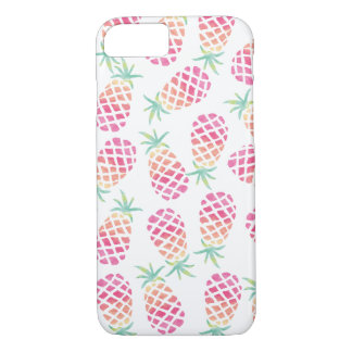 Pink Pineapple Watercolour pattern iphone cover