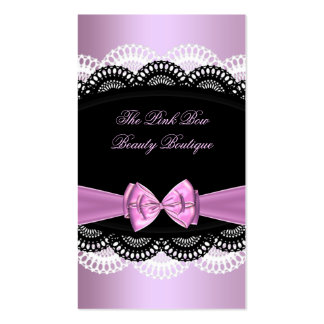 Pink Pink Black Lace White Bow Image Pack Of Standard Business Cards