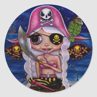 Pink Pirate Fairy Sticker