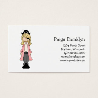 Pink Pirates · Pirate Girl #2 Business Card