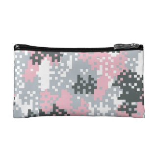 Pink Pixel Camouflage Cosmetics Bags