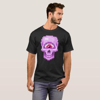 Pink Pixel Cyclops Skull T-Shirt