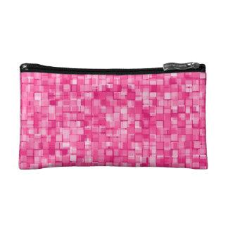 Pink pixels makeup bags