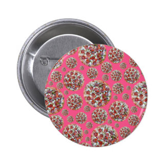 Pink pizza pie pinback buttons