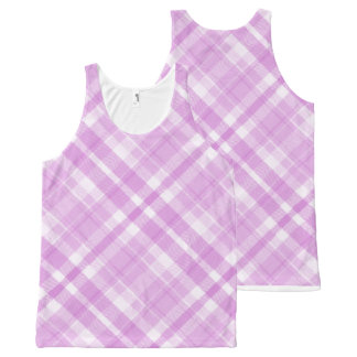 """""""Pink-Plaid_All-Over-Women's_Tank-Tops"""""""
