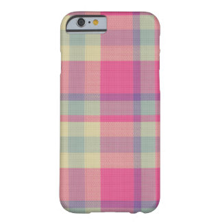 Pink Plaid Barely There iPhone 6 Case