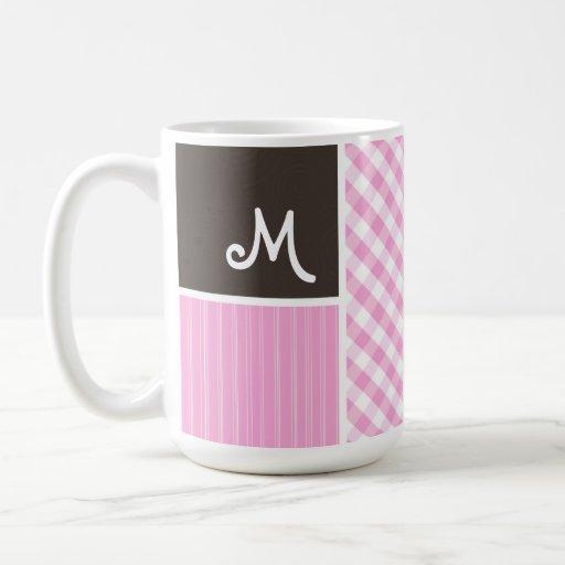 Pink Plaid; Checkered Coffee Mug