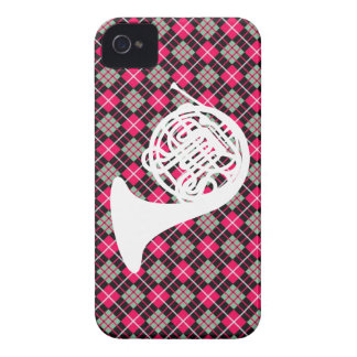 Pink Plaid French Horn Case-Mate Blackberry Case
