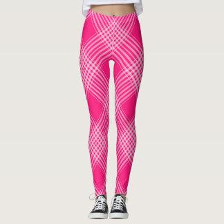 Pink Plaid Leggings