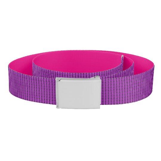 Pink Plaid Print Belt