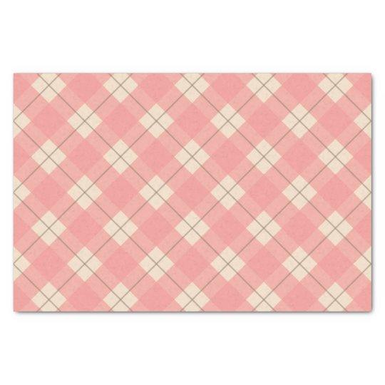 Pink Plaid Tissue Paper