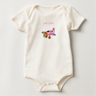 Pink Plane Baby Bodysuit