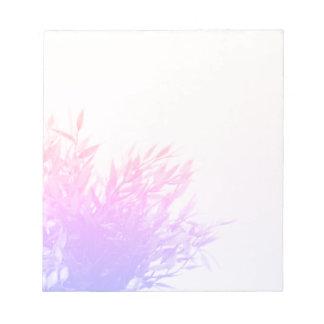 Pink Plant Nature Growing Gardening Notepad