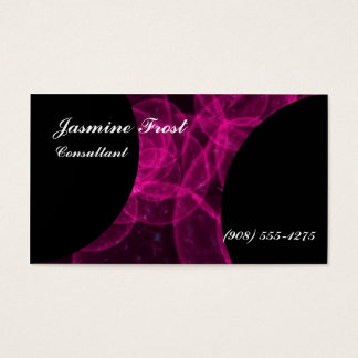 Pink Plasma Jasmine Frost Business Card