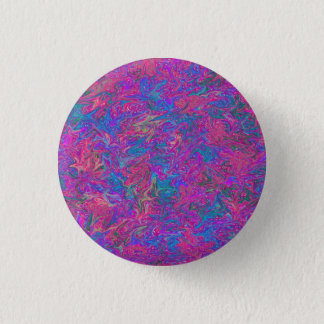 Pink Plastic Grid Abstract 1 Inch Round Button