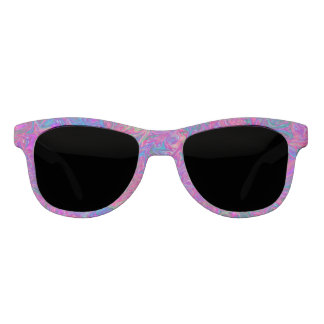 Pink Plastic Grid Abstract Sunglasses