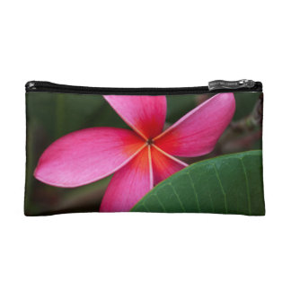 Pink Plumeria Accessory Bag