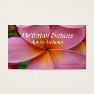 Pink Plumeria business cards