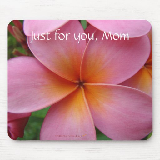 Pink Plumeria Customizable Mousepad for Mother