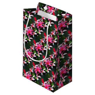 Pink Plumeria Small Gift Bag