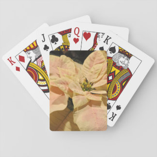 Pink Poinsettia Christmas Playing Cards