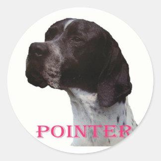 Pink pointer sticker