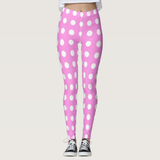 Pink- Poke a Dot Design Leggings