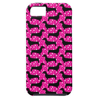 Pink Polka Dachshund Case For The iPhone 5