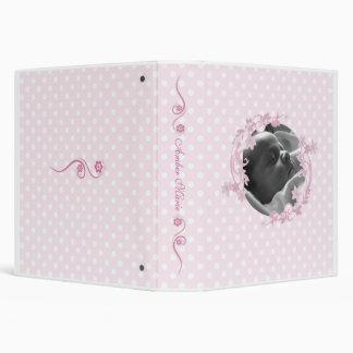 Pink Polka Dot Baby Book 3 Ring Binder