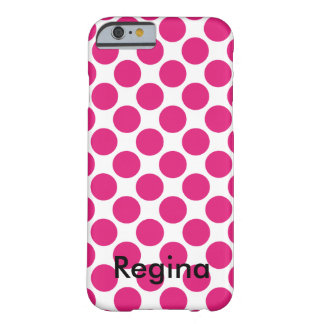 Pink Polka Dot Barely There iPhone 6 Case