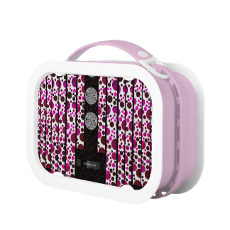 Pink Polka-dot Bling Lunchboxes