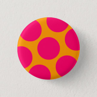 Pink Polka Dot Button