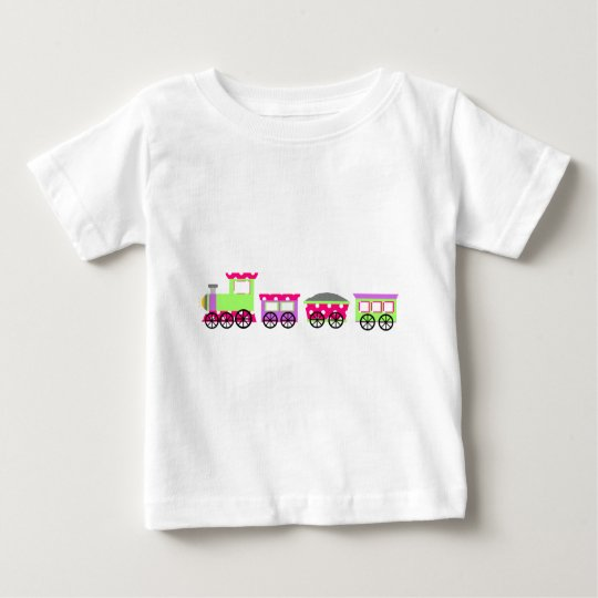 Pink Polka Dot Choo Choo Train Baby T-Shirt