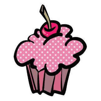 pink polka dot cupcake acrylic cut outs