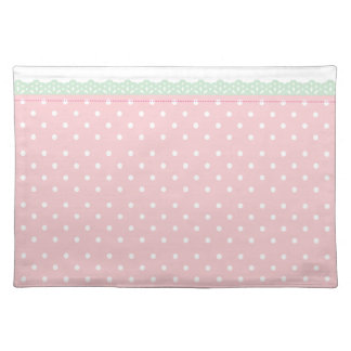 Pink Polka-Dot Custom Table Placemat