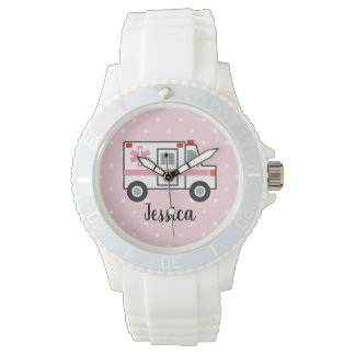 Pink Polka Dot EMT Paramedic Watch For Her