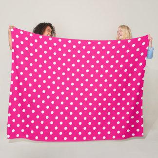 Pink Polka Dot Fleece Blanket
