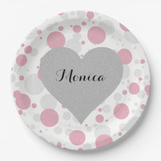 Pink Polka Dot Girl Party Paper Plates
