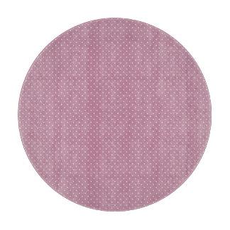 """Pink polka dot Glass Cutting Board 12"""""""