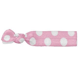 Pink Polka Dot Hair Tie