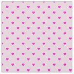 Pink Polka Dot Hearts Fabric