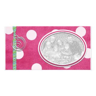 Pink Polka dot Holiday Photo Template