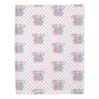 Pink Polka Dot & Koala Bears Duvet Cover