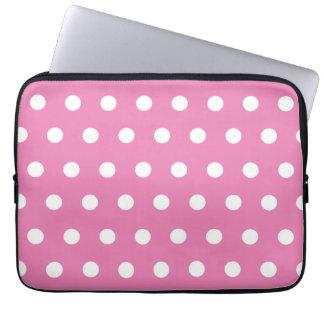 Pink Polka Dot Laptop Sleeve