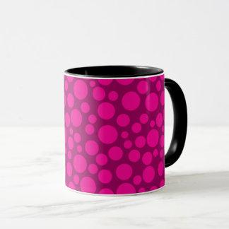 Pink polka dot mug