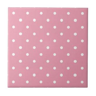 Pink Polka Dot Pattern Tile