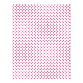 Pink polka dot scrapbook paper design