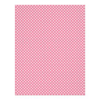 Pink Polka Dot Scrapbook Paper Letterhead Design