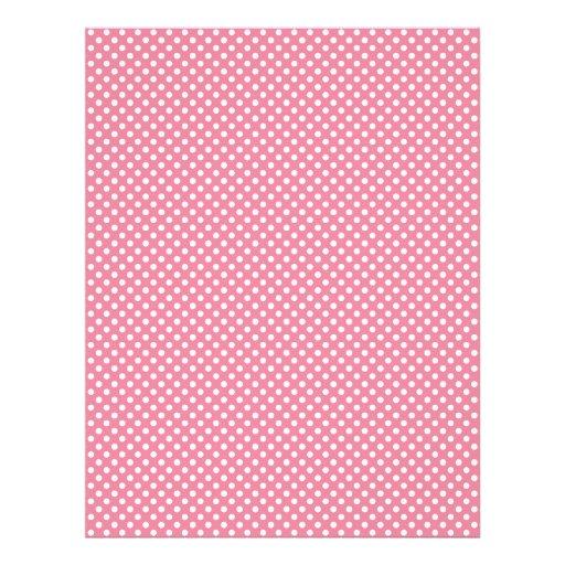 Pink Polka Dot Scrapbook Paper Personalized Letterhead