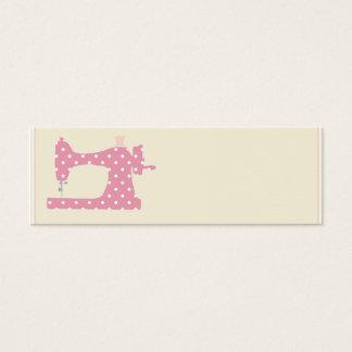 Pink polka dot seamstress business cards